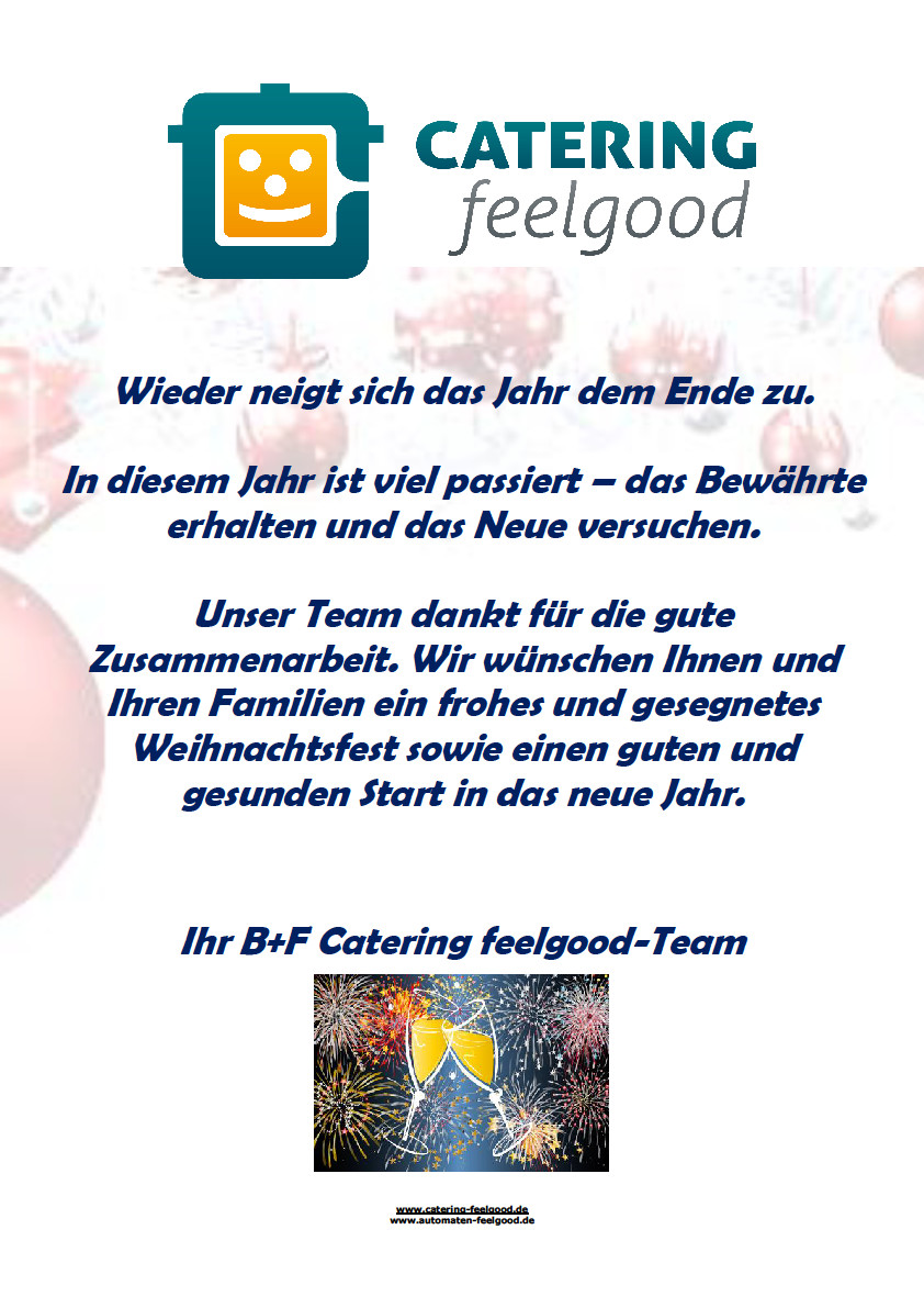 catering feelgood weihnachtsgr e catering feelgood. Black Bedroom Furniture Sets. Home Design Ideas